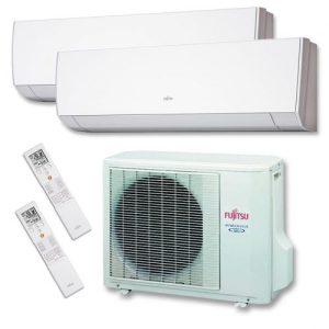 Instaclima Aire Acondicionado Fujitsu 2x1 con externa AOY40Ui-MI2+ ASY 25 MI-LM+ASY 25 MI-LM 2