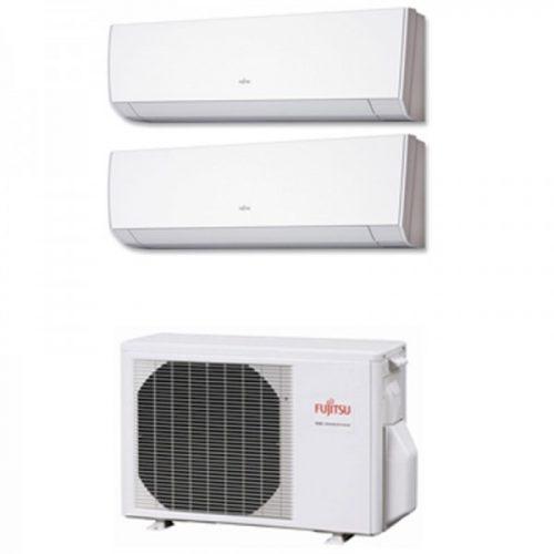 Instaclima Aire Acondicionado Fujitsu 2x1 con externa AOY50Ui-MI2+ ASY 20 MI-LM+ASY 25 MI-LM