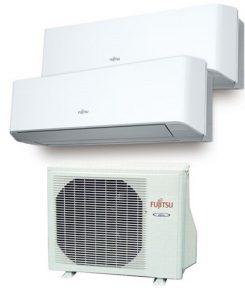Instaclima Aire Acondicionado Fujitsu 2x1 con externa AOY50Ui-MI2+ ASY 20 MI-LM+ASY 35 MI-LM