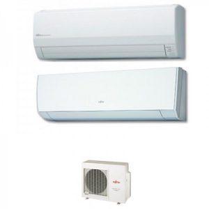 Instaclima Aire Acondicionado Fujitsu 2x1 con externa AOY71Ui-MI3+ ASY 25 MI-LM+ASY 50 Ui-MI