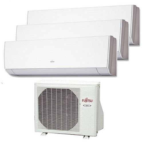 Instaclima Aire Acondicionado Fujitsu 3x1 AOY50UI-MI3+ tres interiores ASY20MI-LM