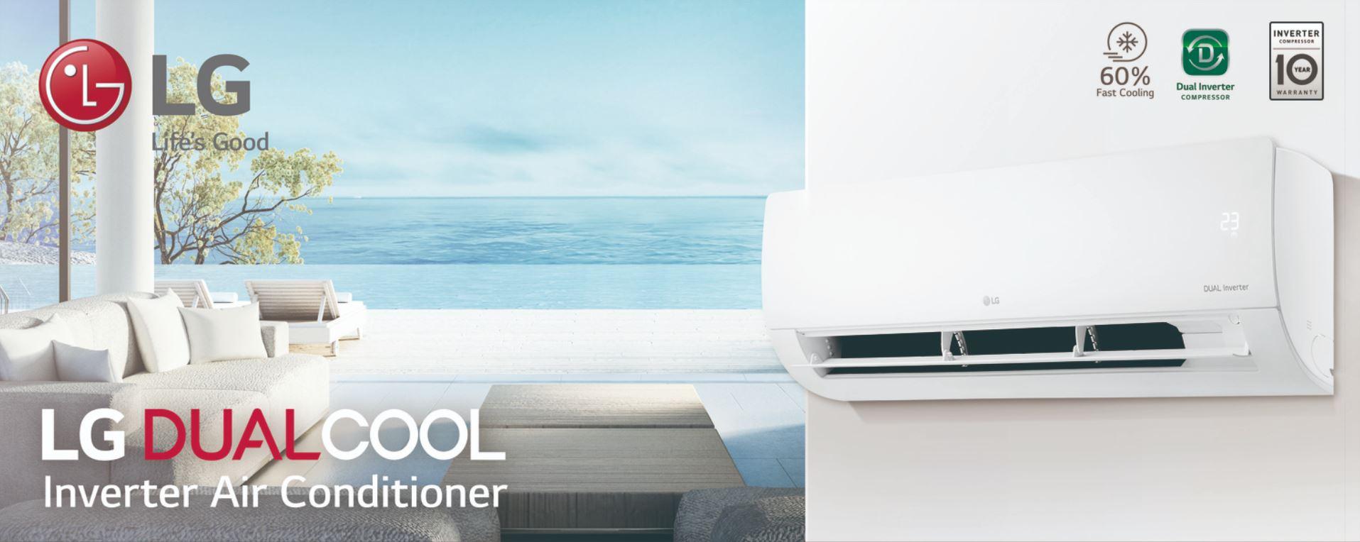 El Compresor Dual Inverter™ ajusta constantemente su velocidad para mantener los niveles de temperatura deseados. De esta manera, el Compresor Dual Inverter™ ahorra más energía que un compresor convencional. Expulsando el aire a mayor distancia y en menos tiempo.